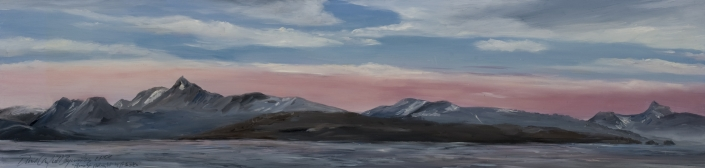 "Near Homer, Alaska - 10"" x 40"" Oil on Primed Wood"