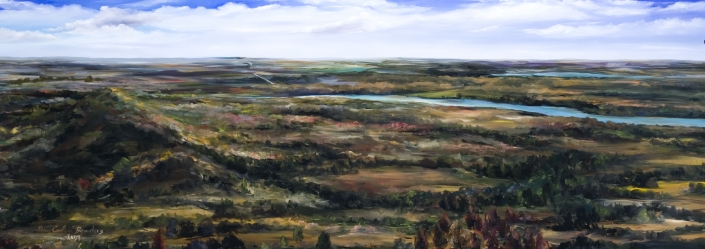 "West Bend Commission Fall - 34"" x 80"" Oil on Canvas"